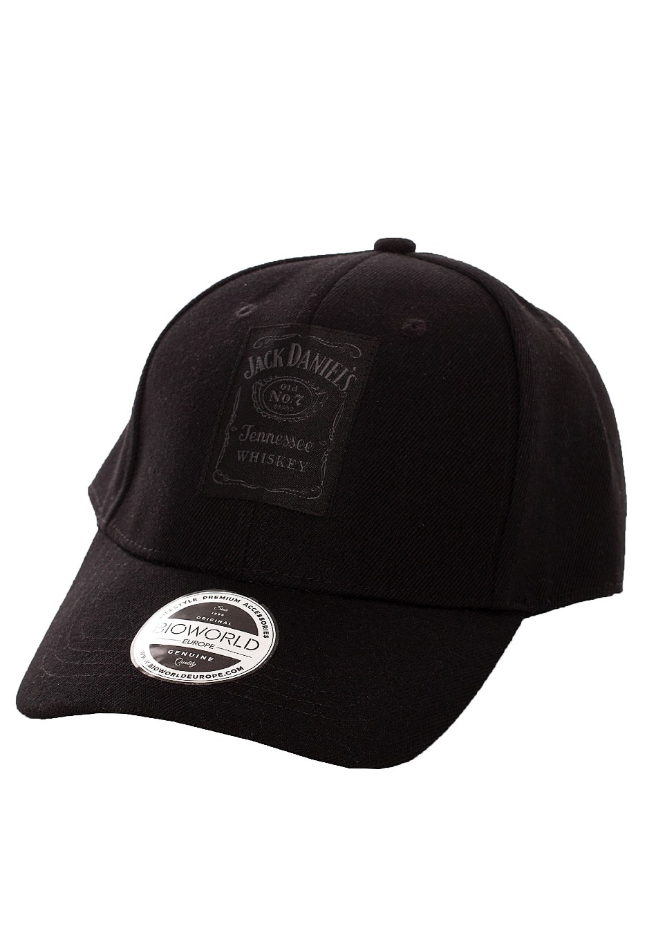Black Snapback Baseball Cap Bottle Logo Jack Daniels