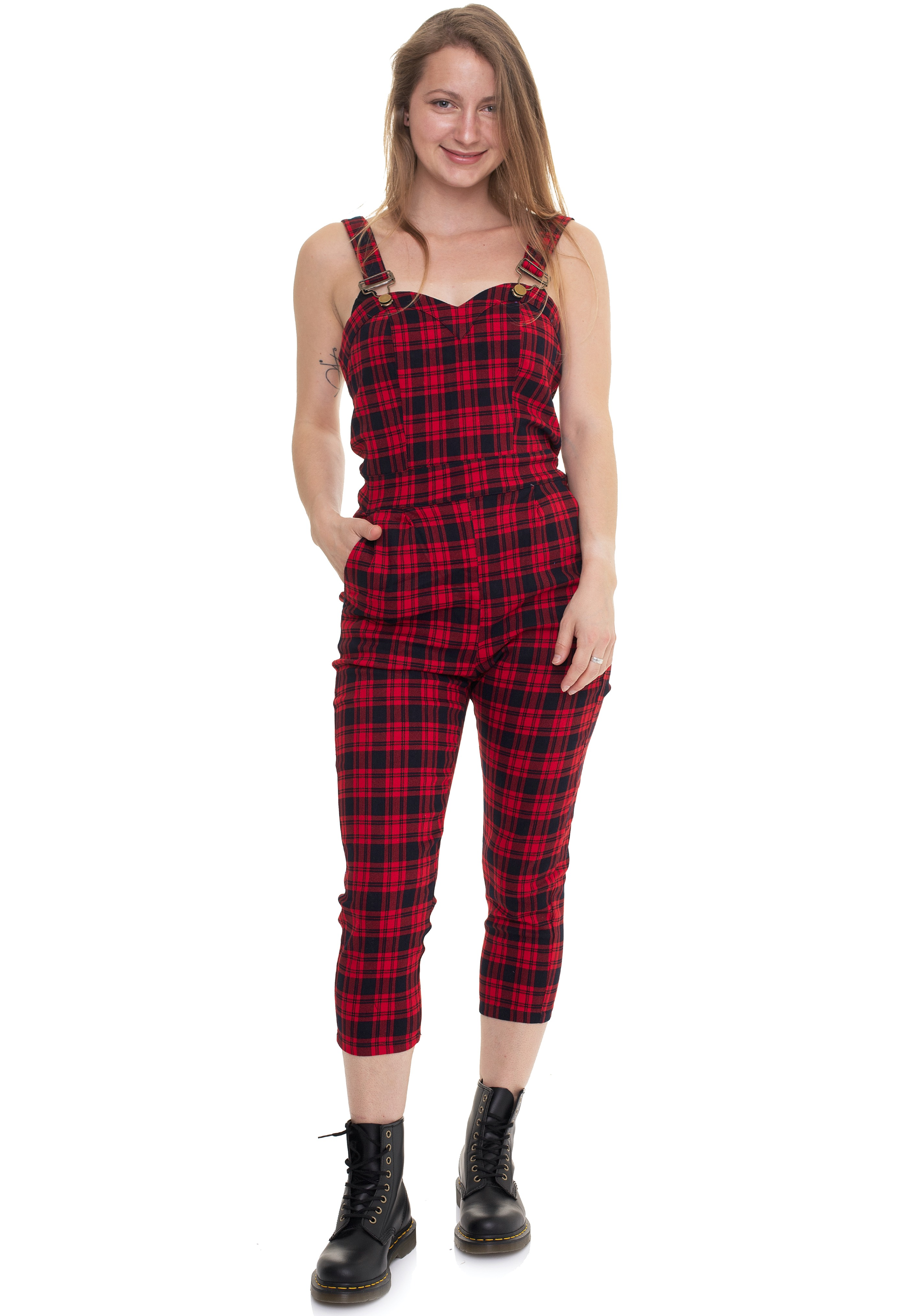 Hosen - Jawbreaker Just Checking Plaid Red Jumpsuits  - Onlineshop IMPERICON