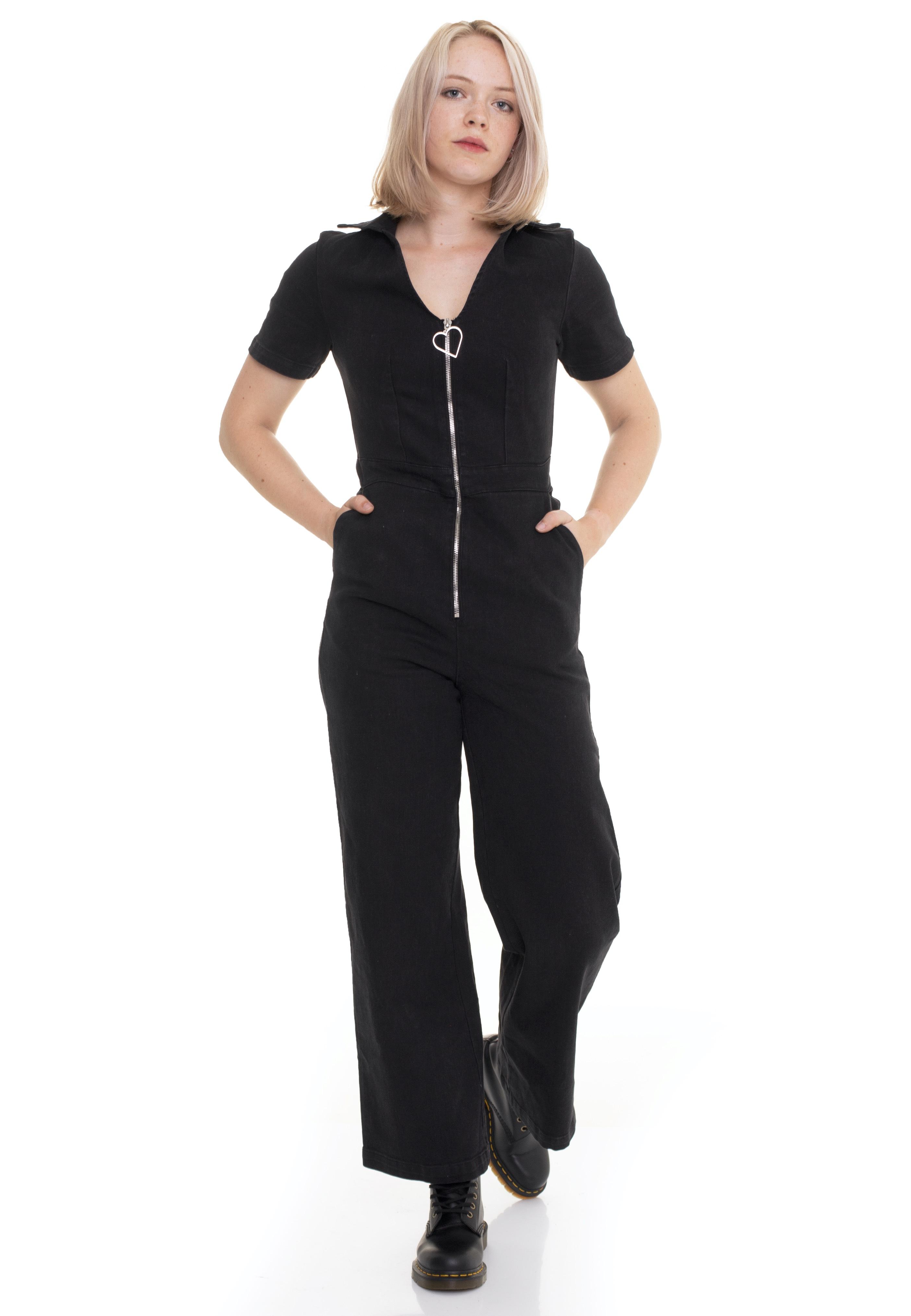 Hosen - Jawbreaker No Heart Black Denim Black Jumpsuits  - Onlineshop IMPERICON