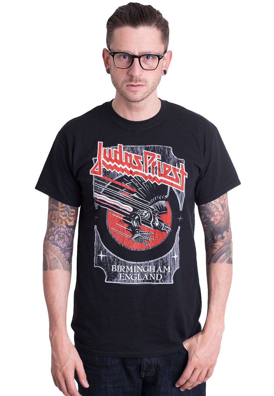 T-Shirt NEW /& OFFICIAL! Black Judas Priest /'Silver And Red Vengeance/'