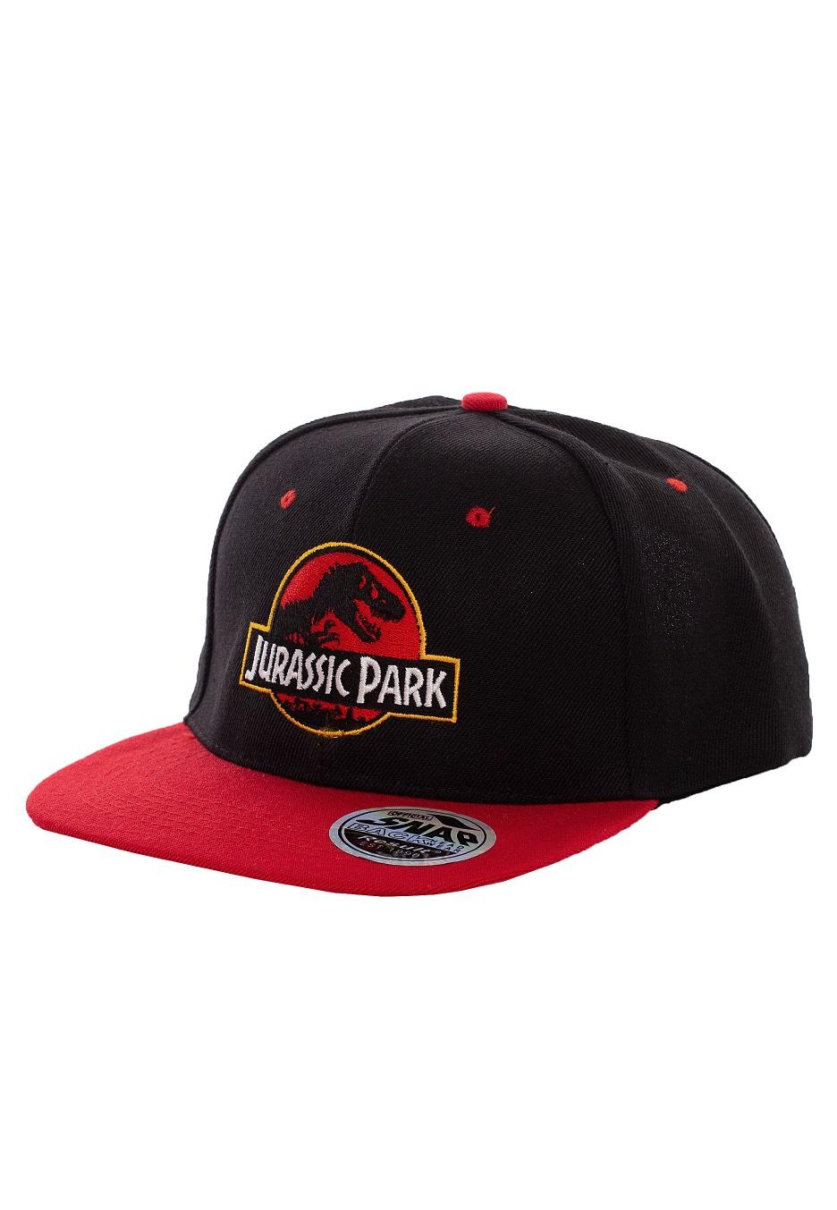 Jurassic Park Logo Black Red Cap Impericon Com Us