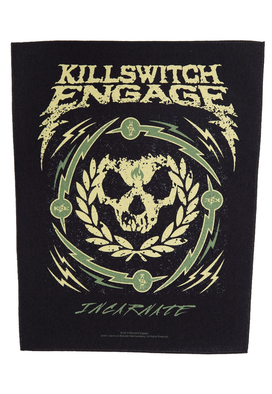 6f0423f1 Killswitch Engage - Skull Wreath - Backpatch - Impericon.com CH