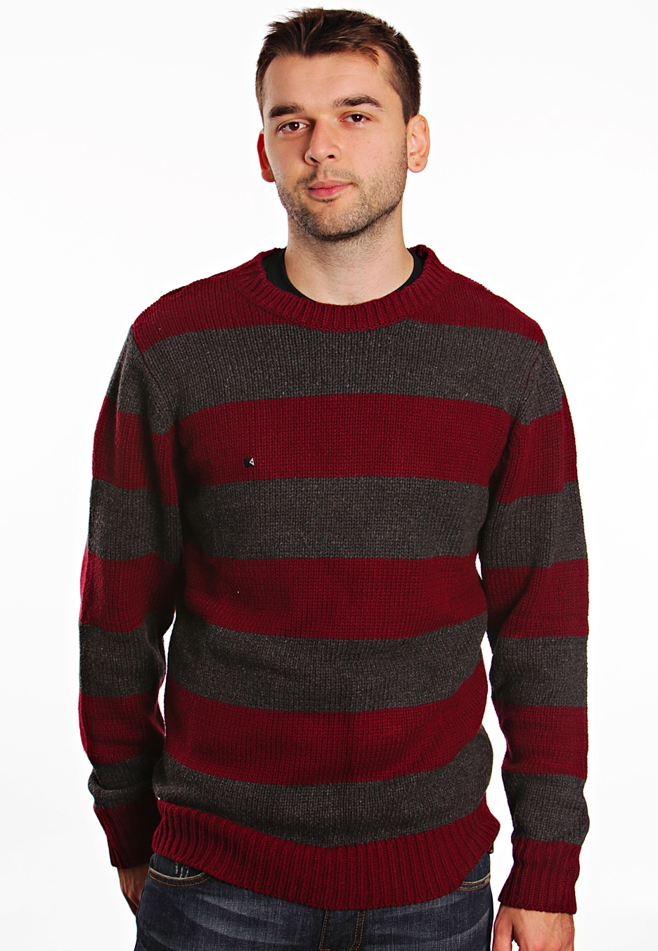 Kr3w - Norton Striped Burgundy - Sweater - Impericon.com Worldwide
