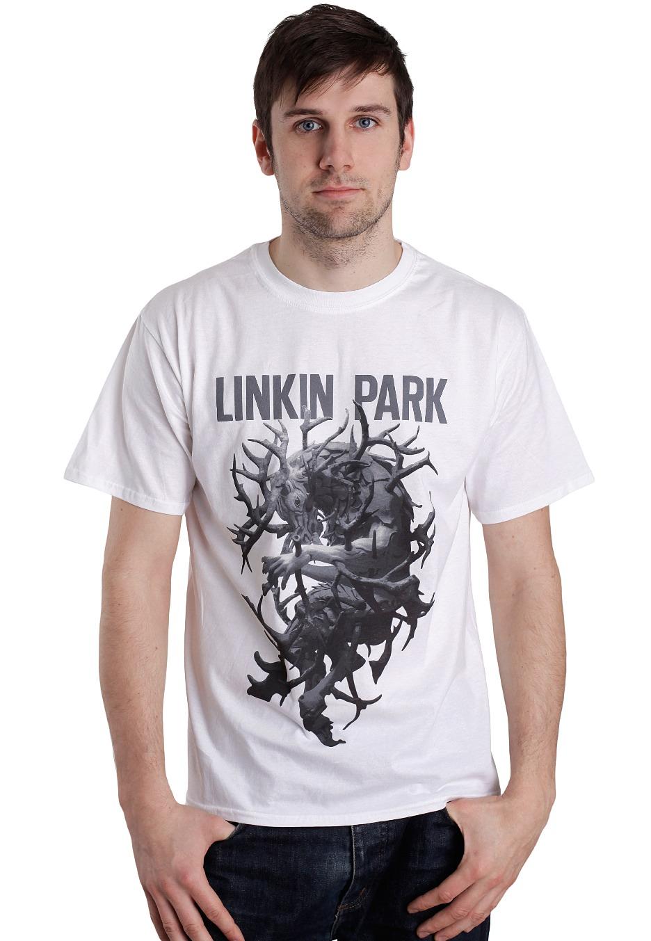 23bb6f07 Linkin Park - Antlers White - T-Shirt - Official Rock Merchandise Shop -  Impericon.com AU