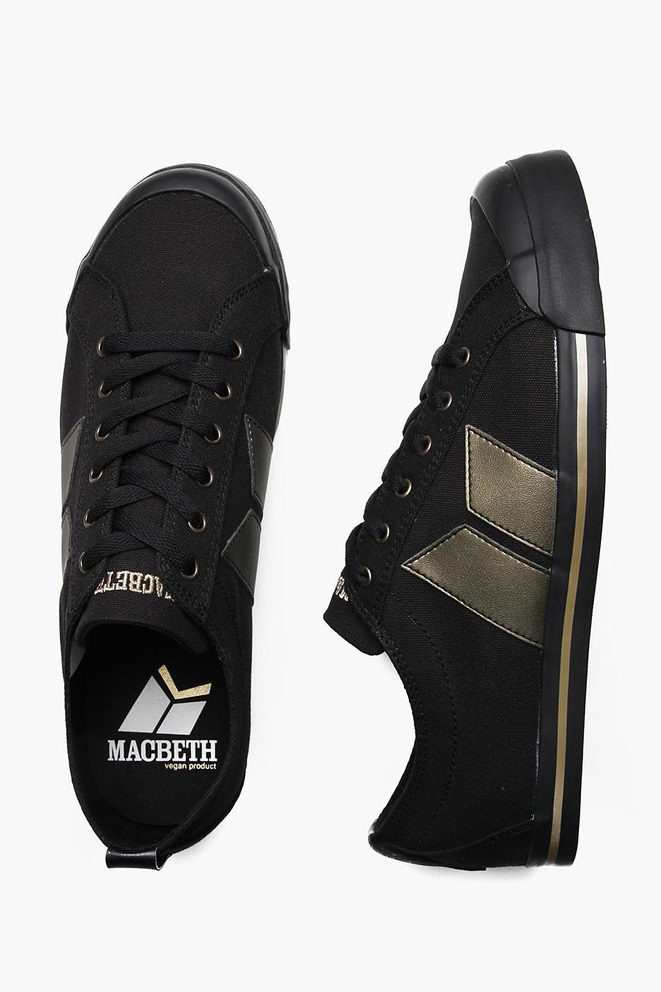 Macbeth Eliot Canvas BlackGold Schuhe