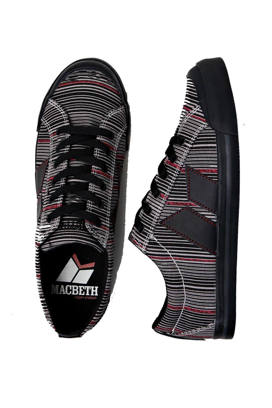 Macbeth - Eliot Premium Black Stripes - Girl Shoes ...