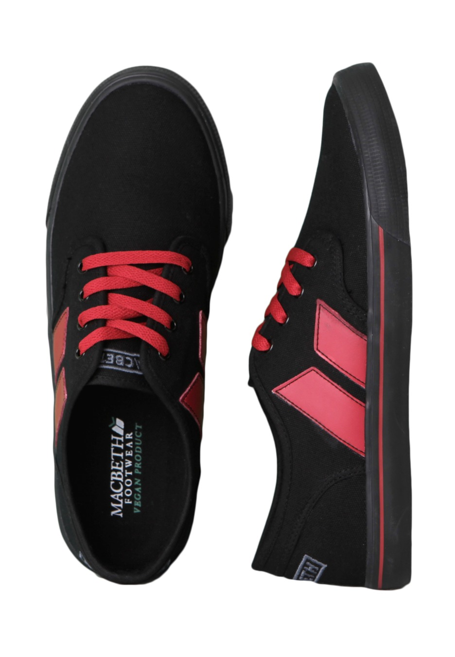 Macbeth - Langley Black/Red - Shoes - Impericon.com Worldwide