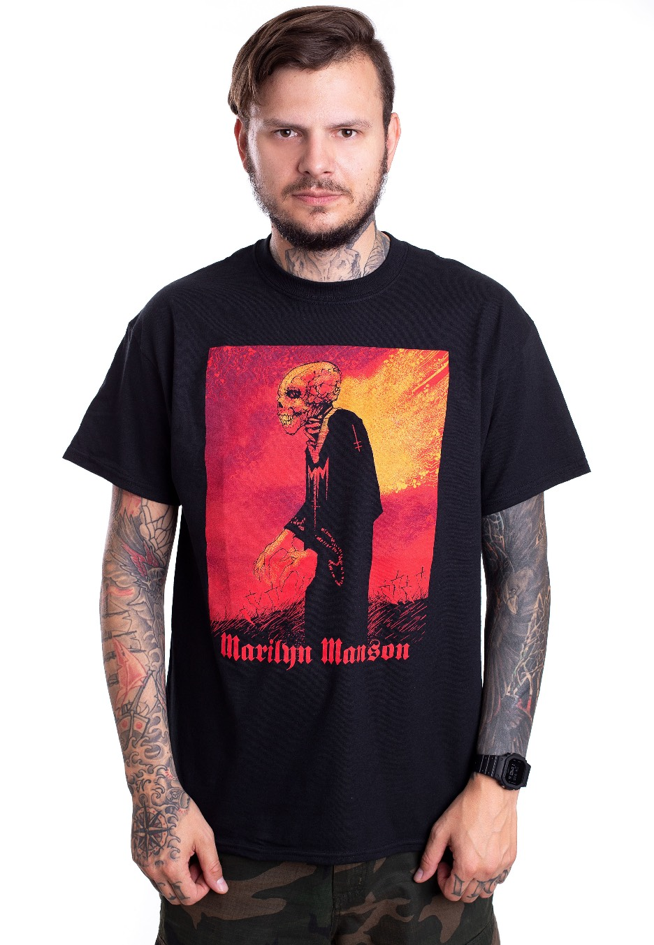 marilyn manson mad monk t shirt official alternative rock