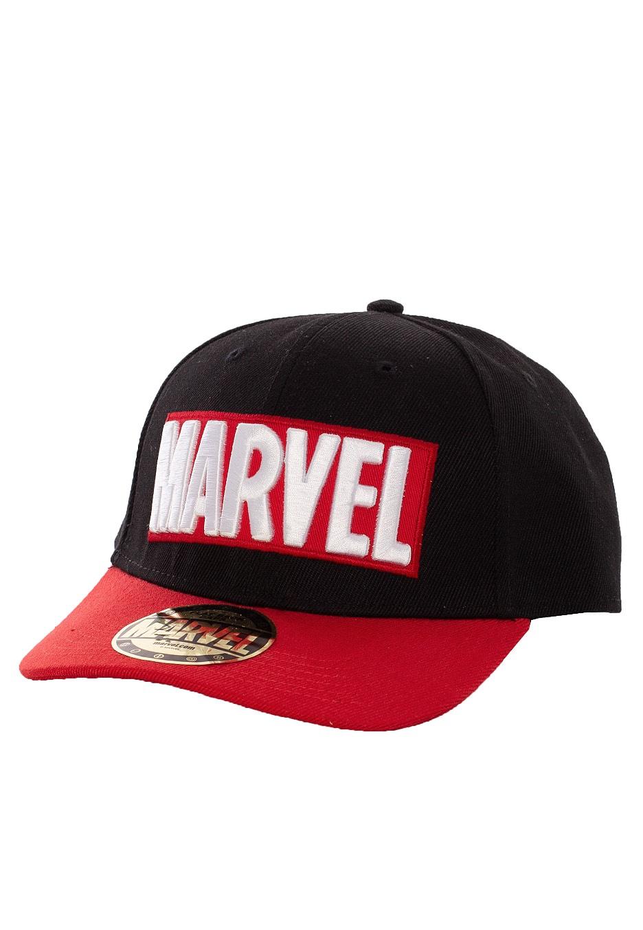 Marvel Comics Logo Baseball Cap Black Red Cap Impericon Com Us