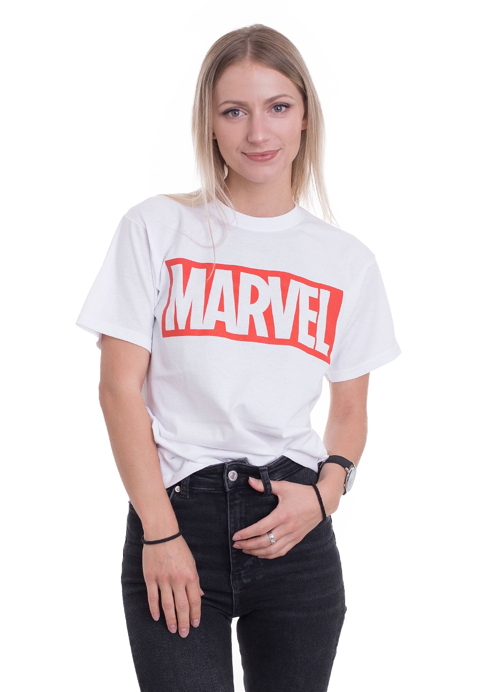 new york great deals 2017 low price sale Marvel Comics - Marvel Logo White - T-Shirt - Impericon.com Worldwide