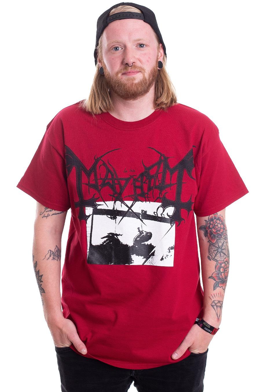 Mayhem Deathcrush Official Merchandise New /& Size Black Metal T-Shirt Men/'s Red