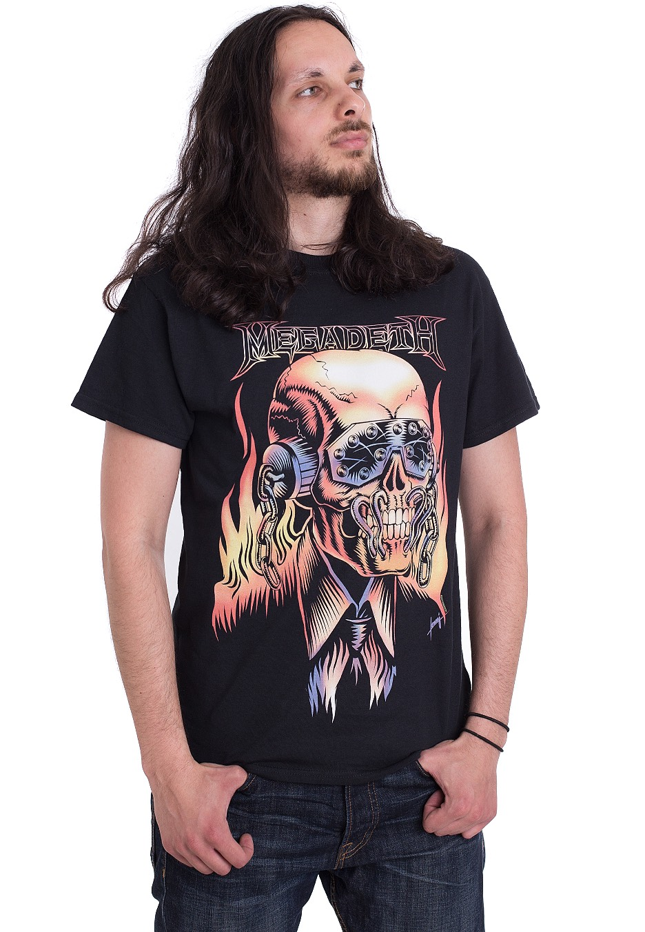 NEW /& OFFICIAL! Megadeth /'Flaming Vic/' T-Shirt