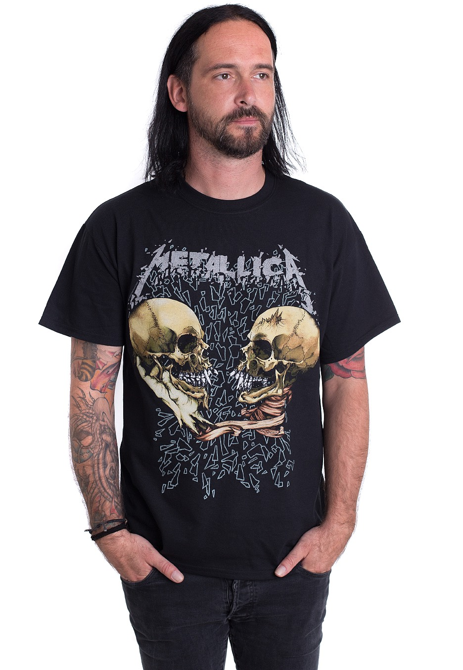 metallica sad but true t shirt official rock. Black Bedroom Furniture Sets. Home Design Ideas