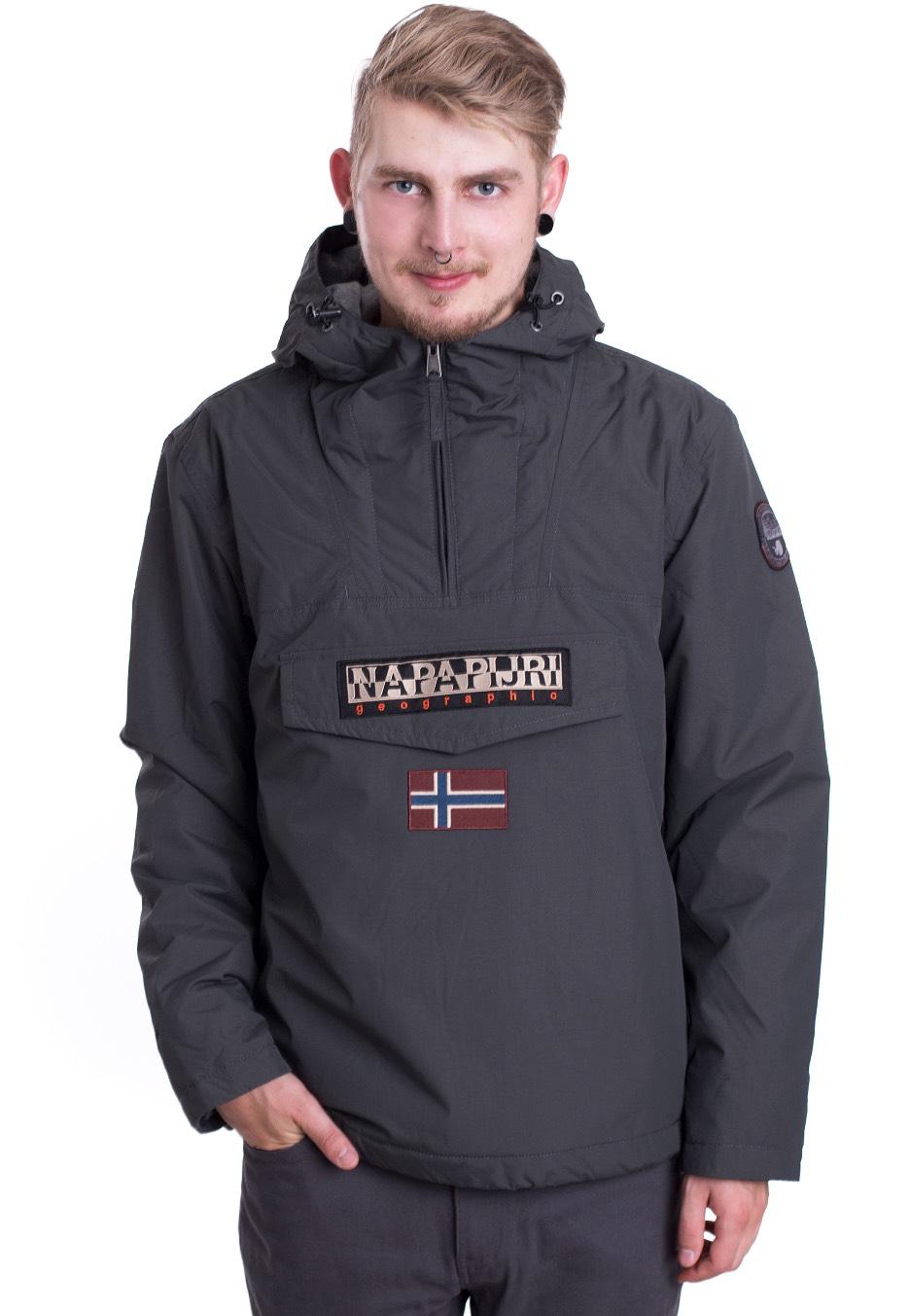 Napapijri Rainforest Winter Dark Grey Solid Jacket