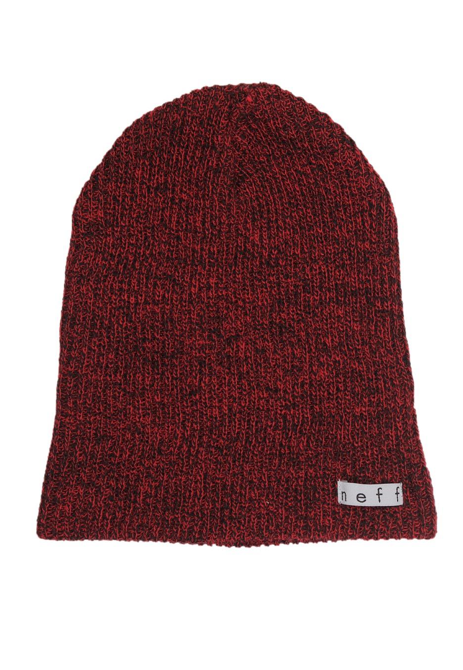 cf59c6e36ee Neff - Daily Heather Black Red - Beanie - Streetwear Shop - Impericon.com  Worldwide