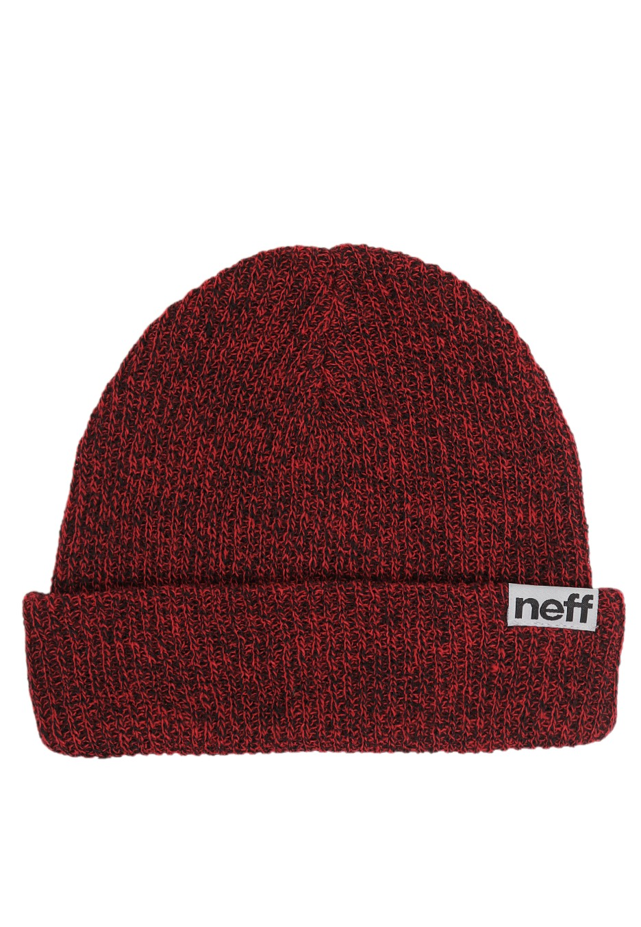 Neff - Fold Heather Black Red - Beanie - Streetwear Shop - Impericon ... f25d8f1d296