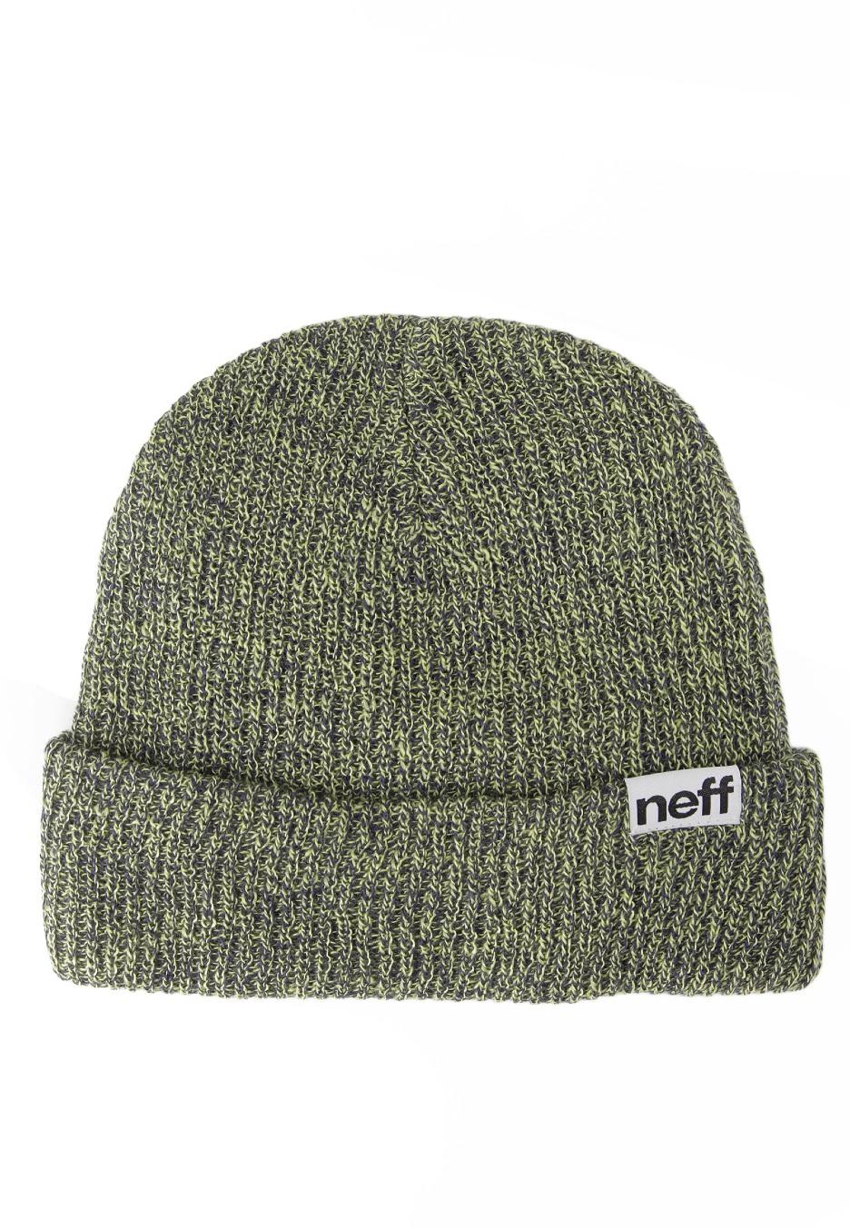 77b8019aa05 Neff - Fold Heather Navy Lime - Beanie - Streetwear Shop - Impericon.com UK