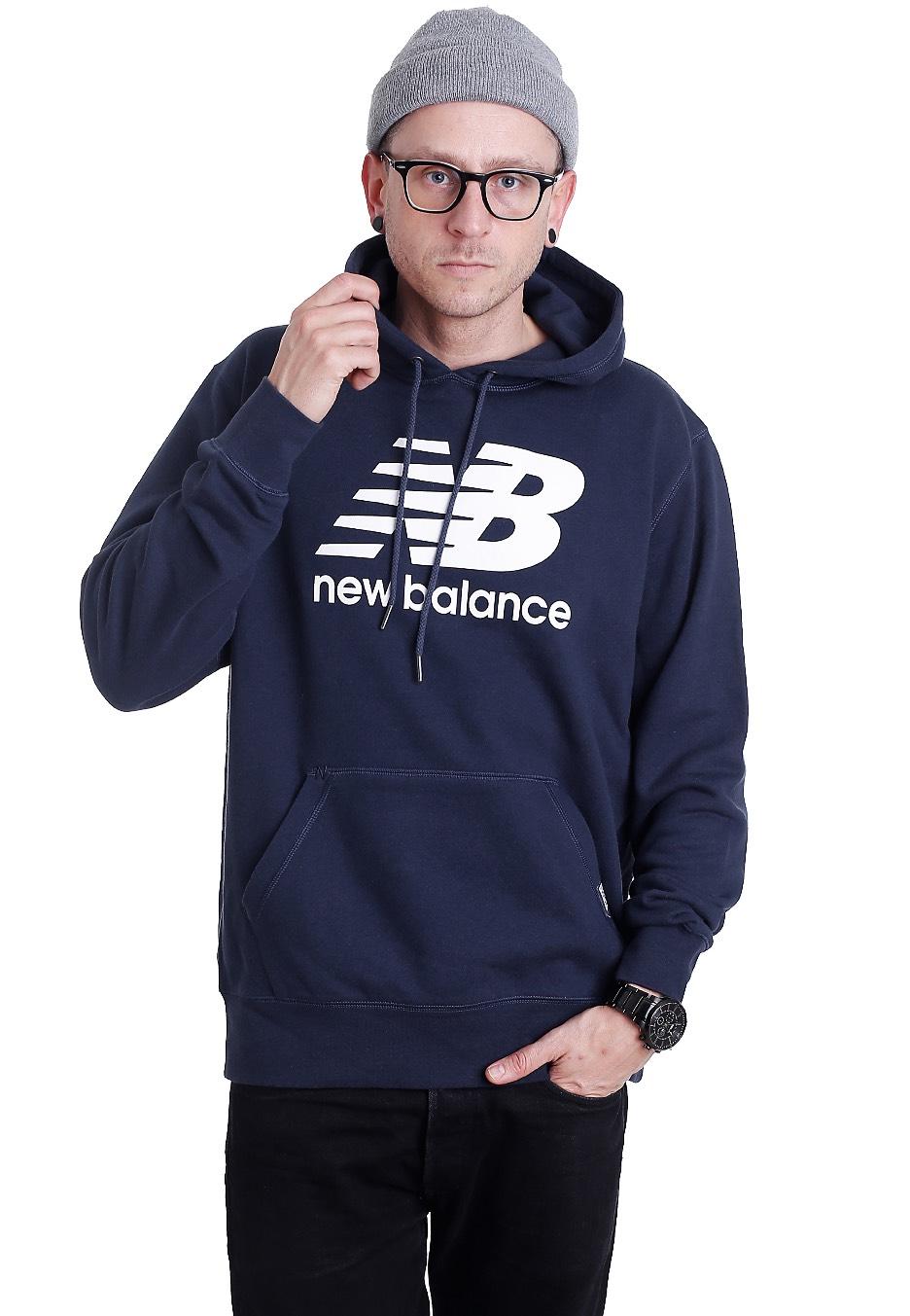 new balance classics mt63551 navy hoodie streetwear. Black Bedroom Furniture Sets. Home Design Ideas