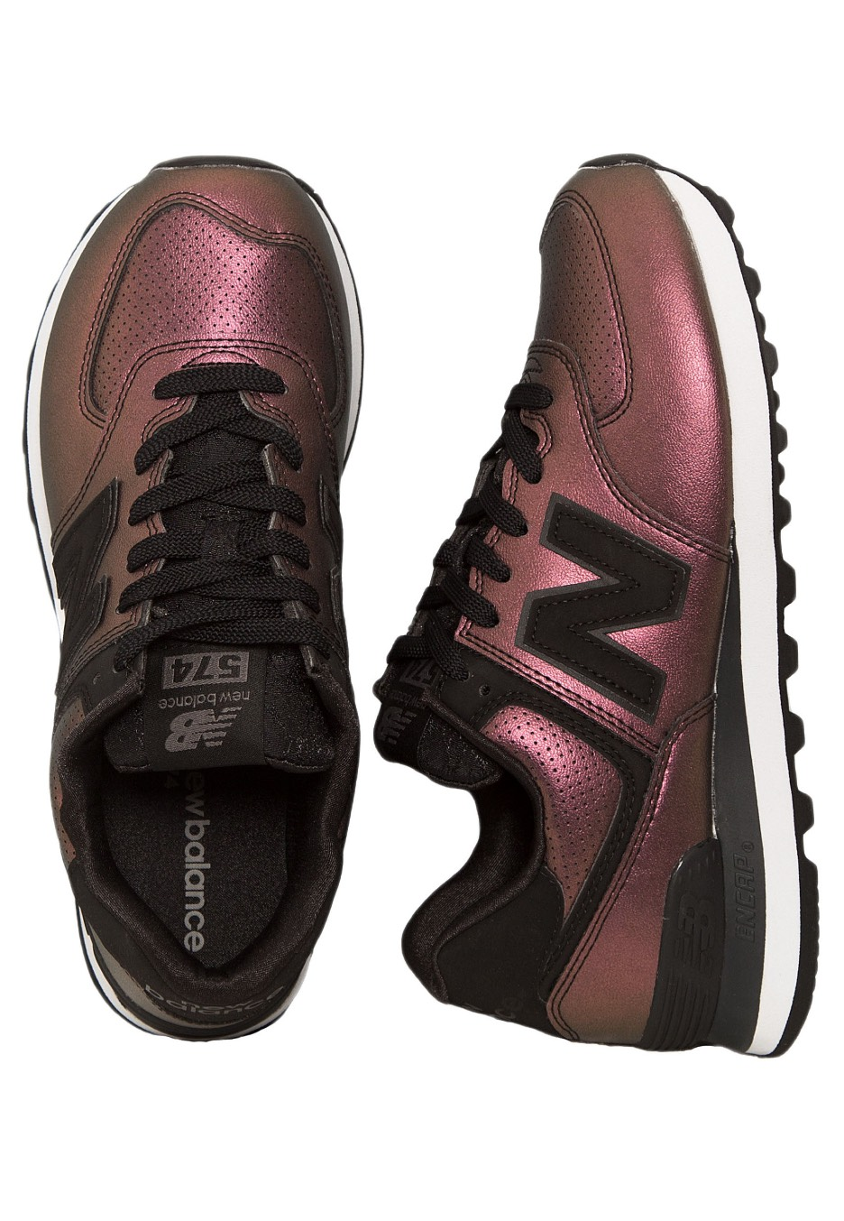 the best attitude ef756 ac2a0 New Balance - WL574 Black - Girl Shoes