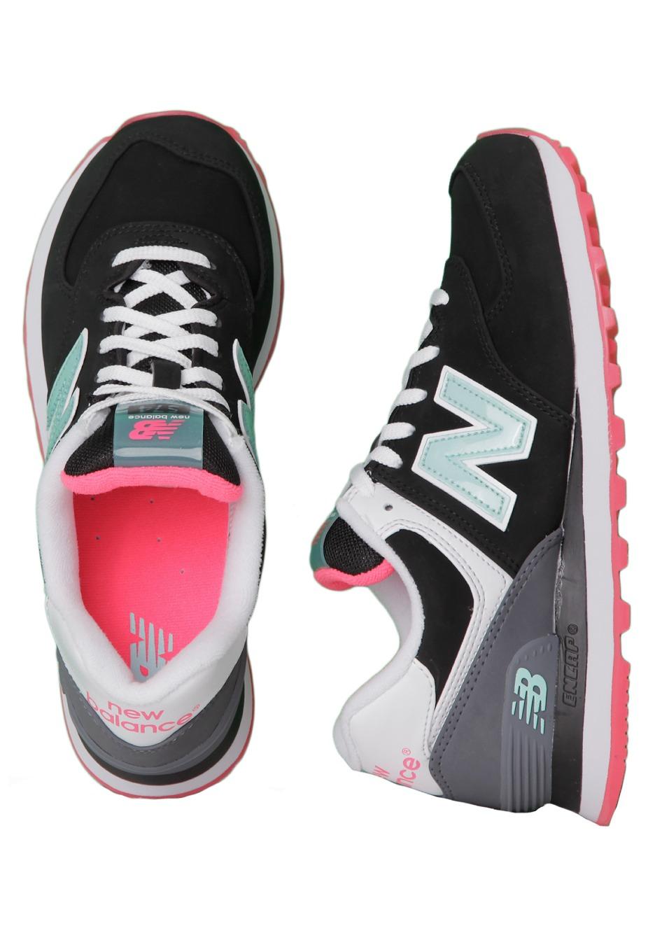 New Balance - WL574SLZ Black/Grey - Chaussures pour fille ...