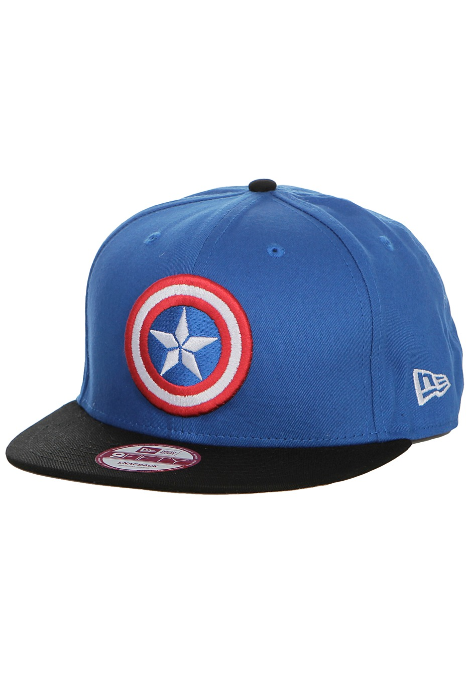 f03f5cc445797 New Era - Avengers Logo Captain America Black Blue Snapback - Cap -  Impericon.com Worldwide