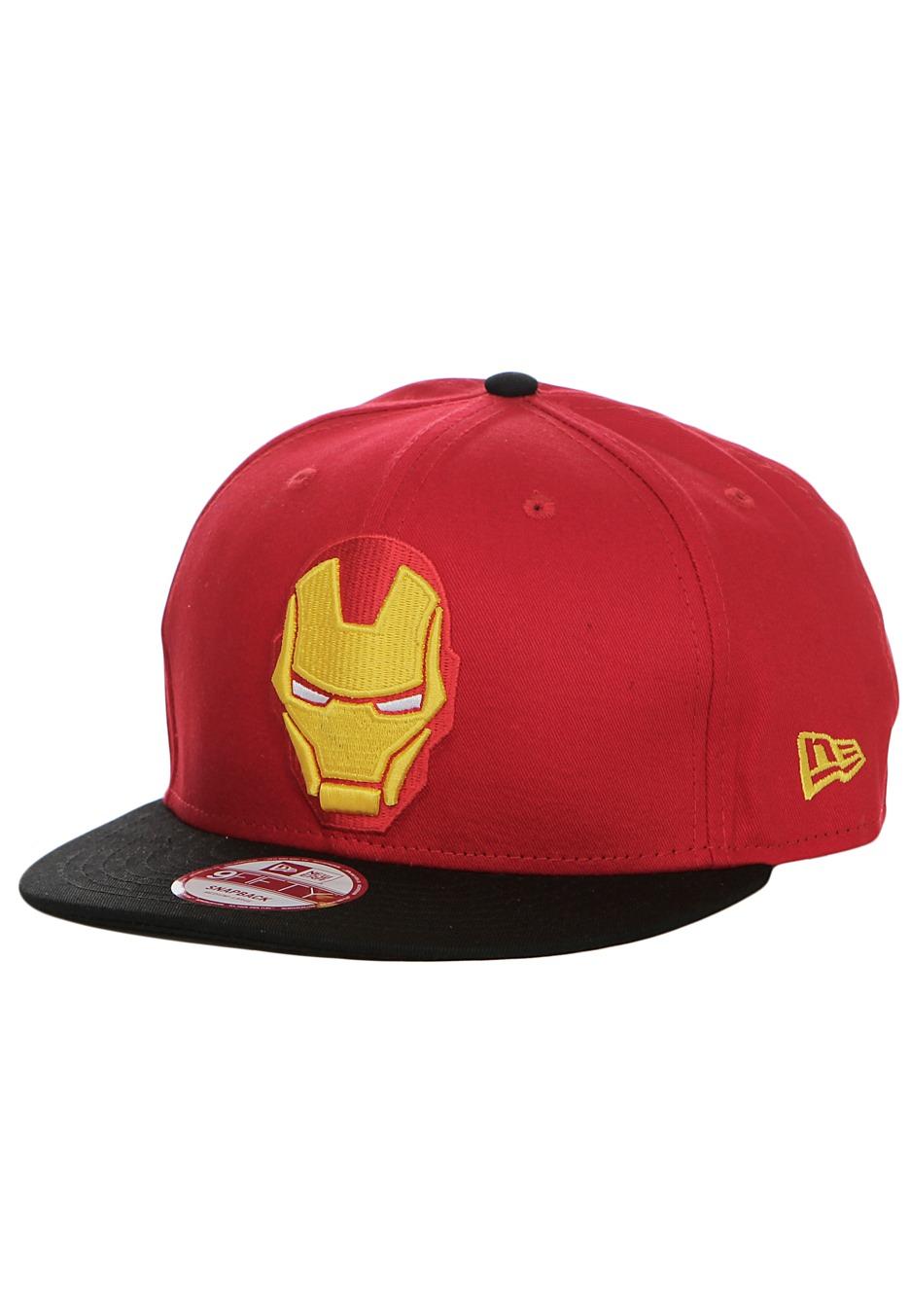 9910fd60df9 ... get new era avengers logo iron man black red snapback cap e9428 0f5f7