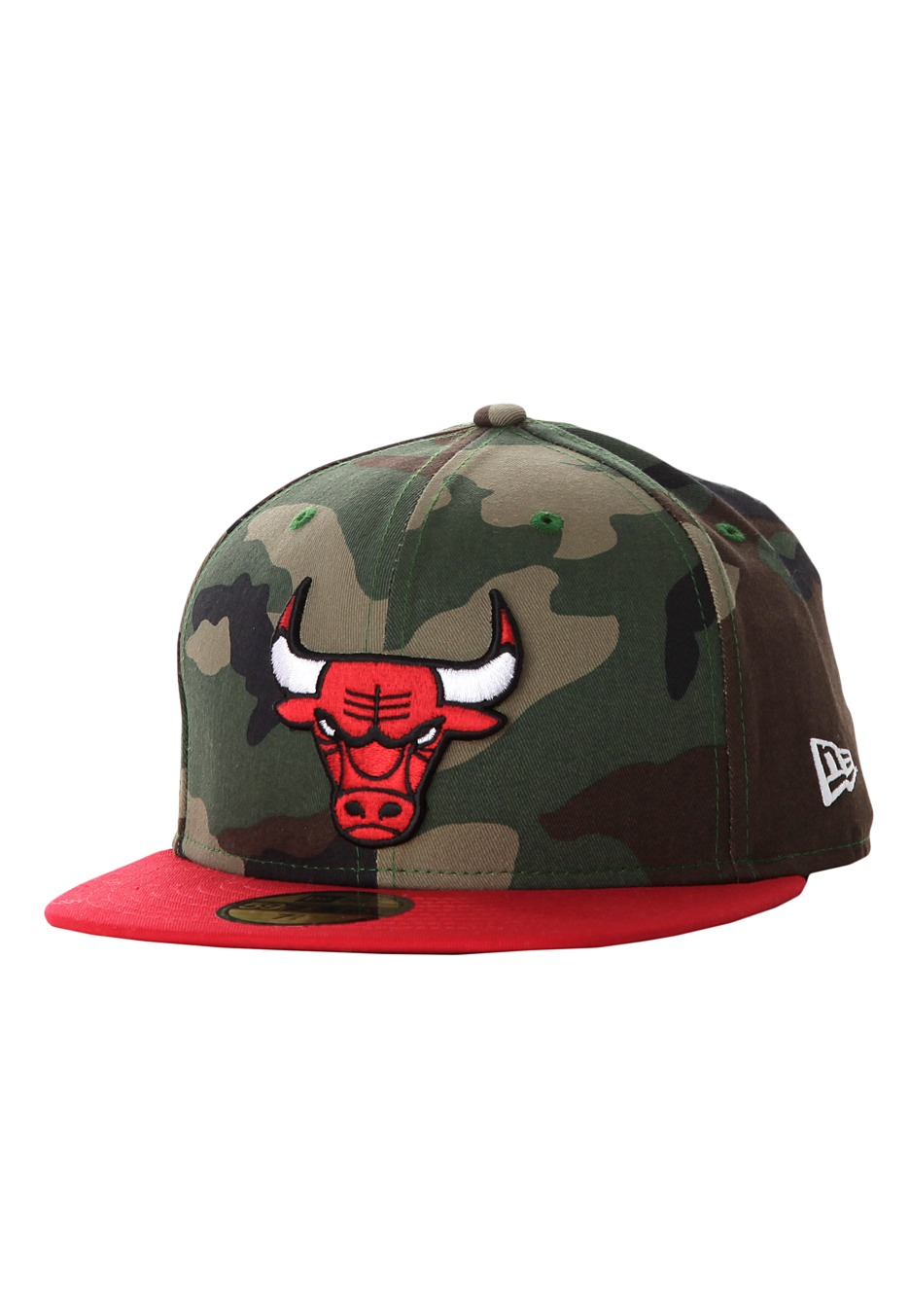 new era camo team visor 950 chicago bulls woodland cap streetwear shop. Black Bedroom Furniture Sets. Home Design Ideas