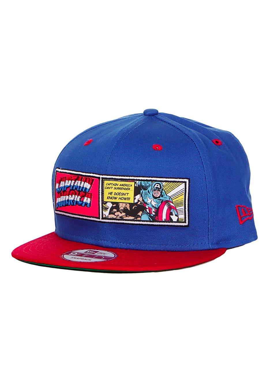 New Era - Comic Panel Captain America Blue/Red Snapback - Cap