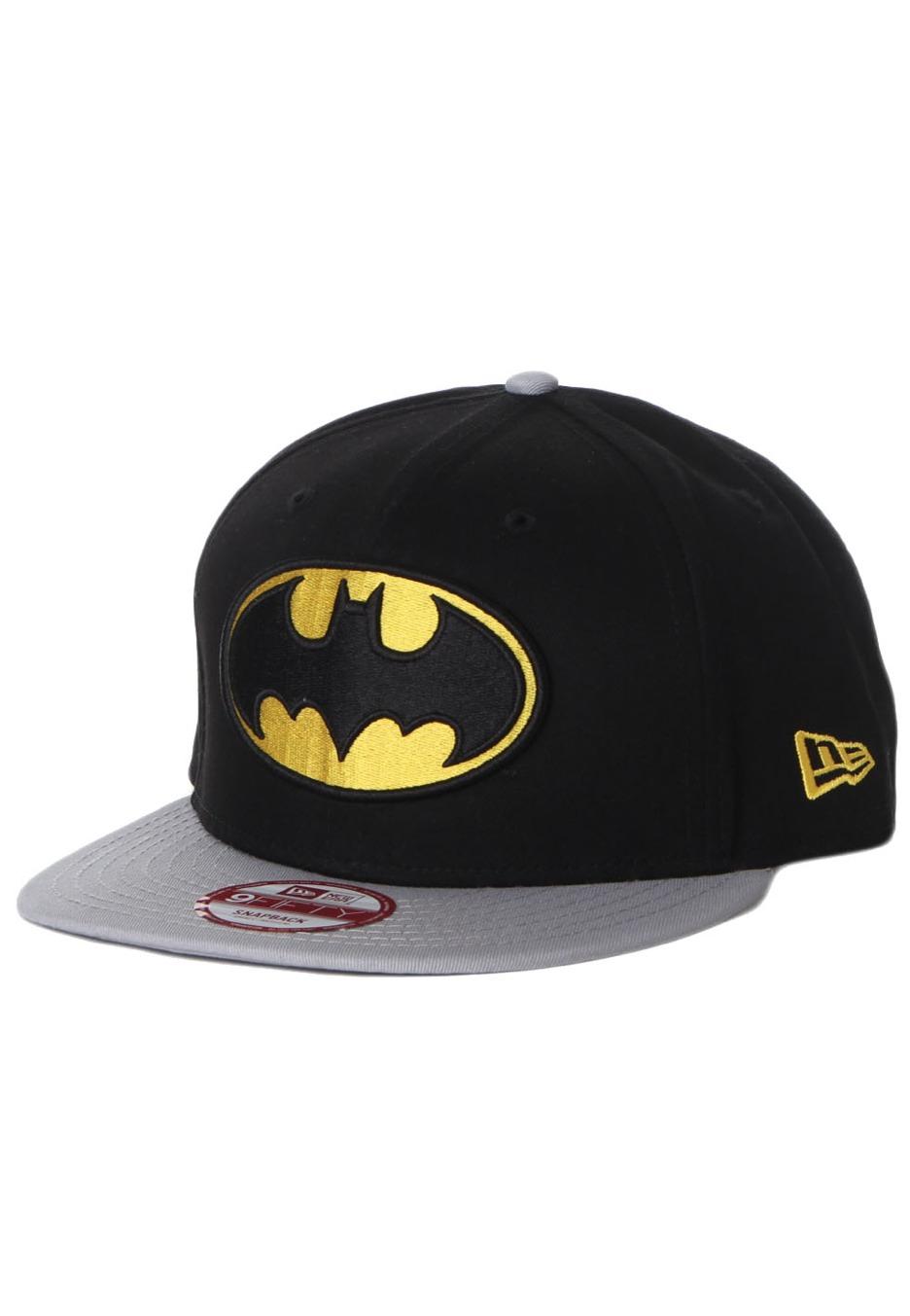 919d58fe00c New Era - Reverse Hero Batman Official Grey Black Yellow Snapback - Cap -  Impericon.com UK