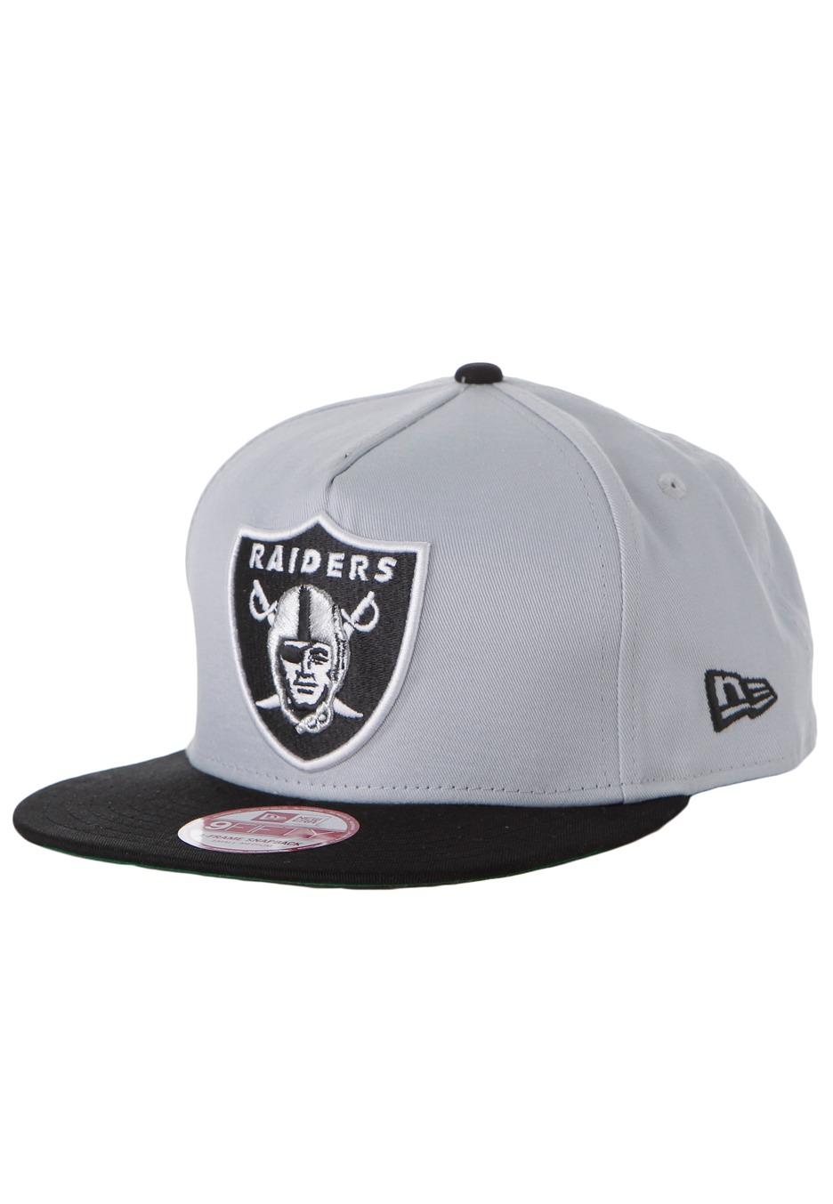 800b977a637 New Era - Team Flip 2 Oakland Raiders Grey Black - Cap - Streetwear Shop -  Impericon.com AU