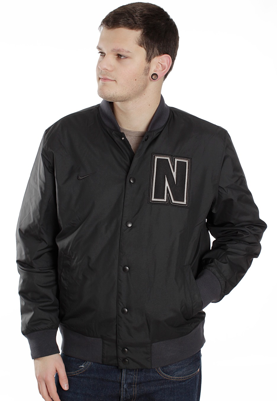 Nike - AD Letterman Black/Black - College Jacket - Streetwear Shop ...