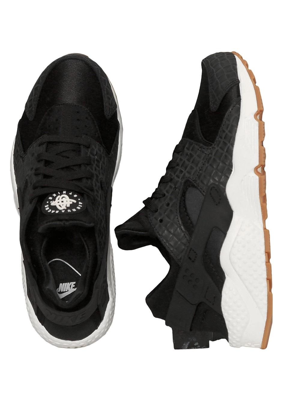 87ed930f80bc2 Nike - Air Huarache Run Premium Black Black Sail Gum Med Brown - Girl Shoes  - Impericon.com US