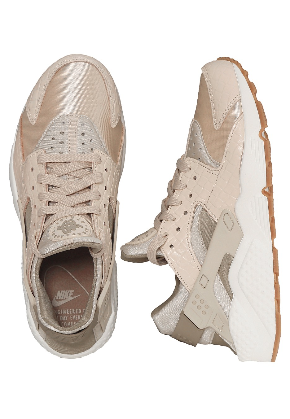 nike air huarache run premium oatmeal khaki sail gum med brown girl shoes. Black Bedroom Furniture Sets. Home Design Ideas
