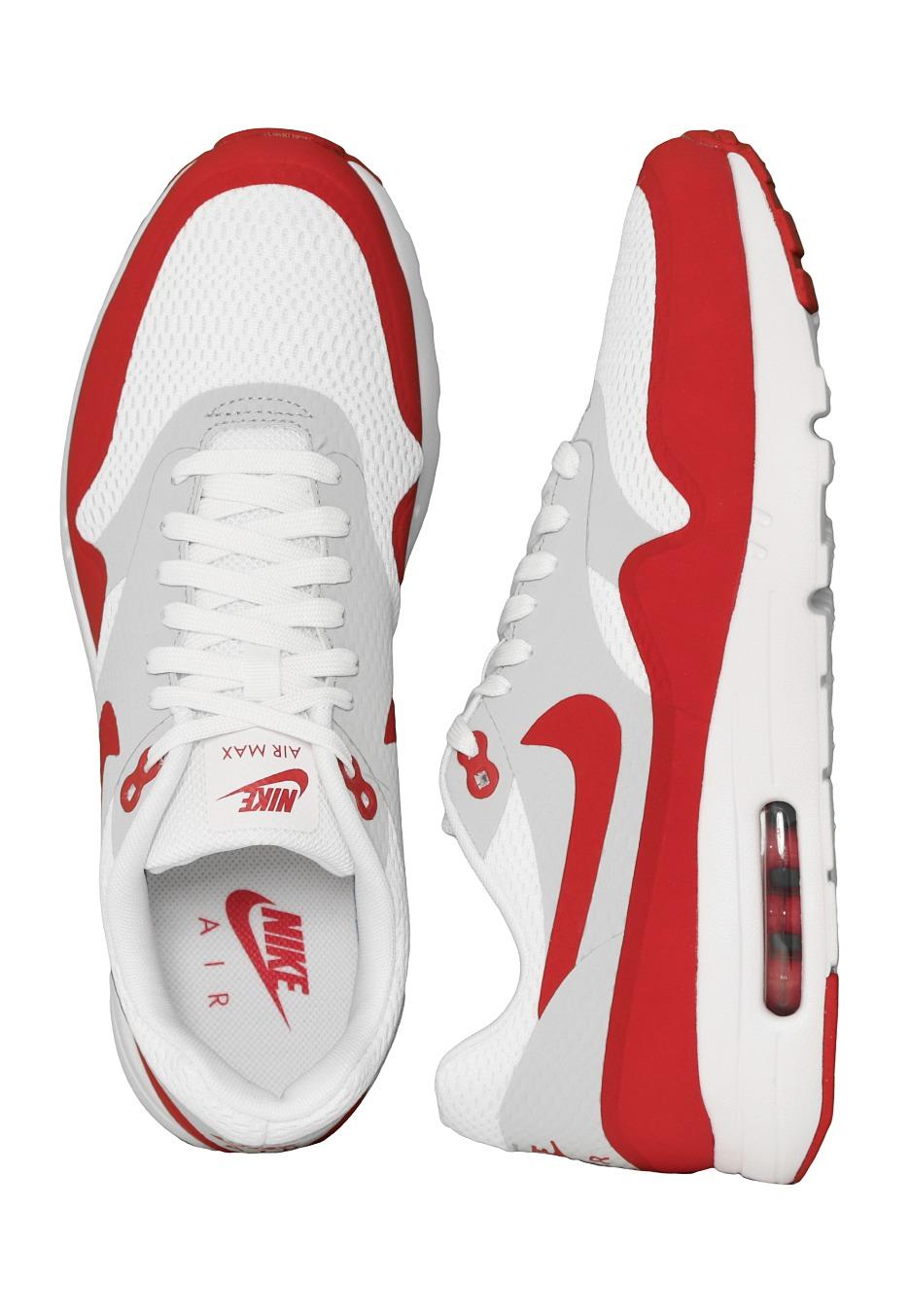 Nike Air Max 1 Ultra Essential WhiteVarsity RedNeutral GreyWhite Shoes