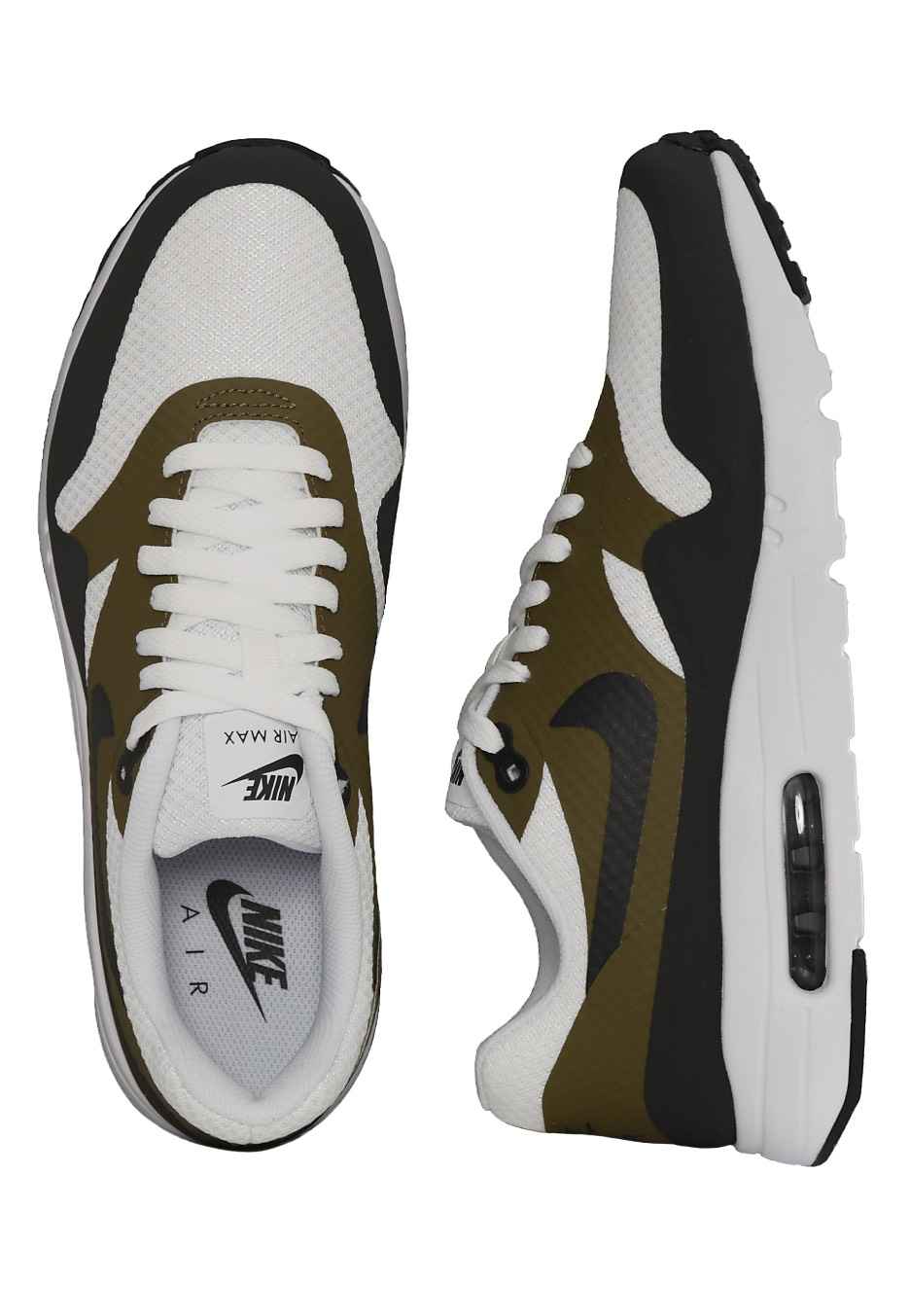 best service 025c8 62b93 Nike - Air Max 1 Ultra Essential WhiteAnthraciteOlive FlakWhite - Shoes  - Impericon.com UK