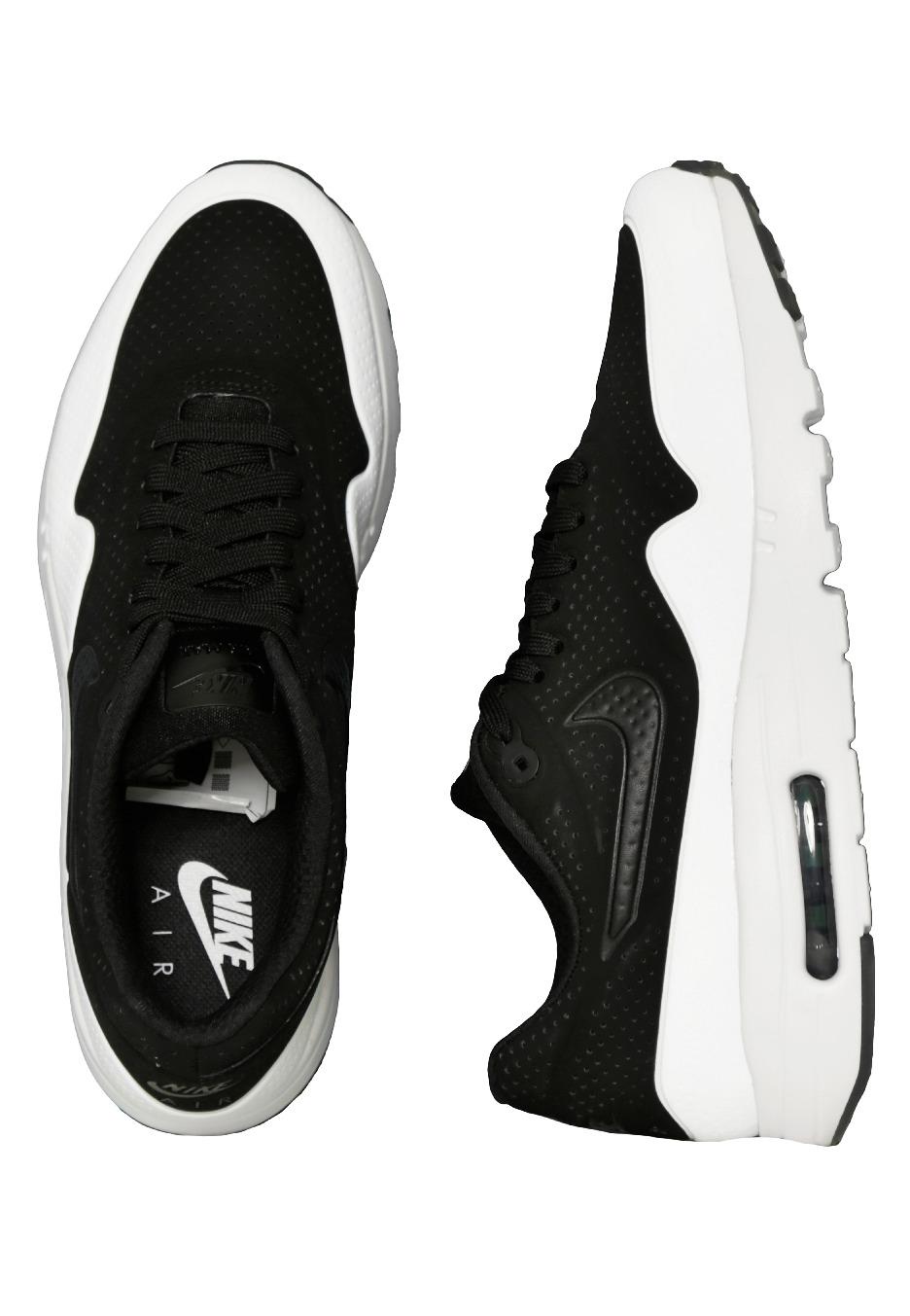 Nike Air Max 1 Chaussures Ultra Moire Black/Black/White Chaussures 1 ae2e99
