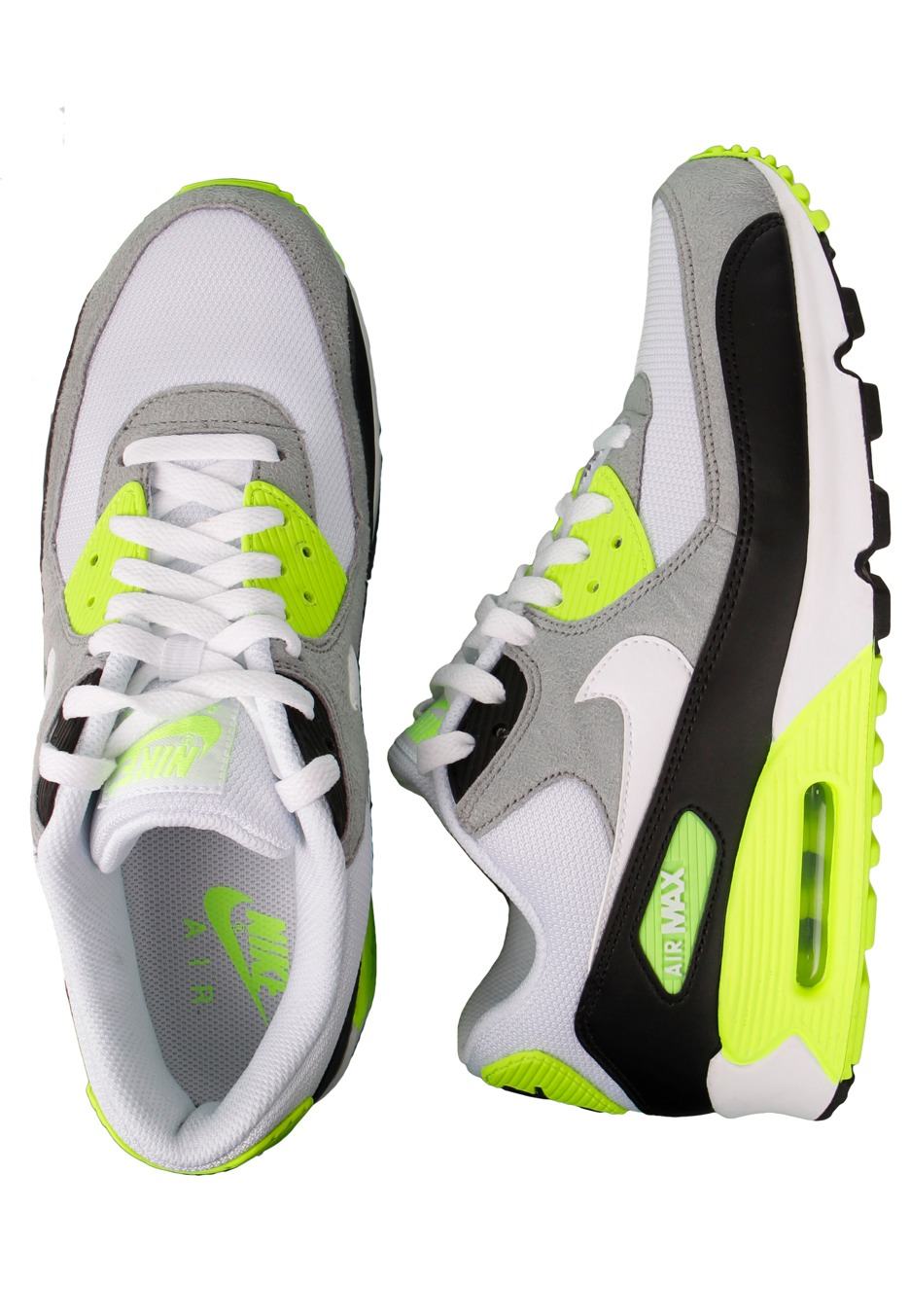 uk availability c8cdc 61691 Nike - Air Max 90 Black/White/Medium Grey/Volt - Shoes - Impericon.com  Worldwide