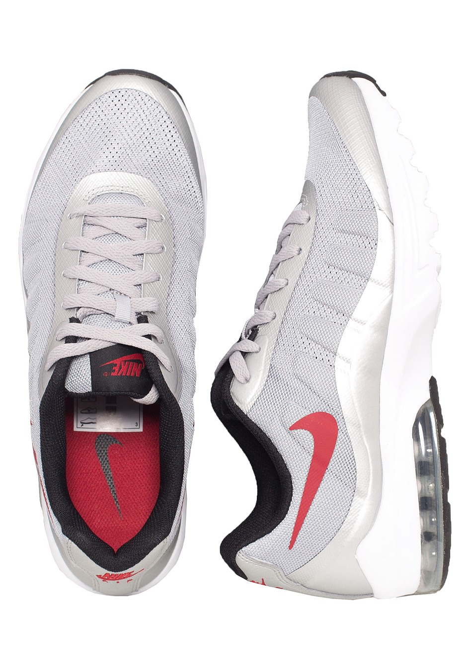 half off a5112 d31d7 Nike - Air Max InvigorWolf Grey Varsity Red Black White - Shoes - Impericon.com  Worldwide
