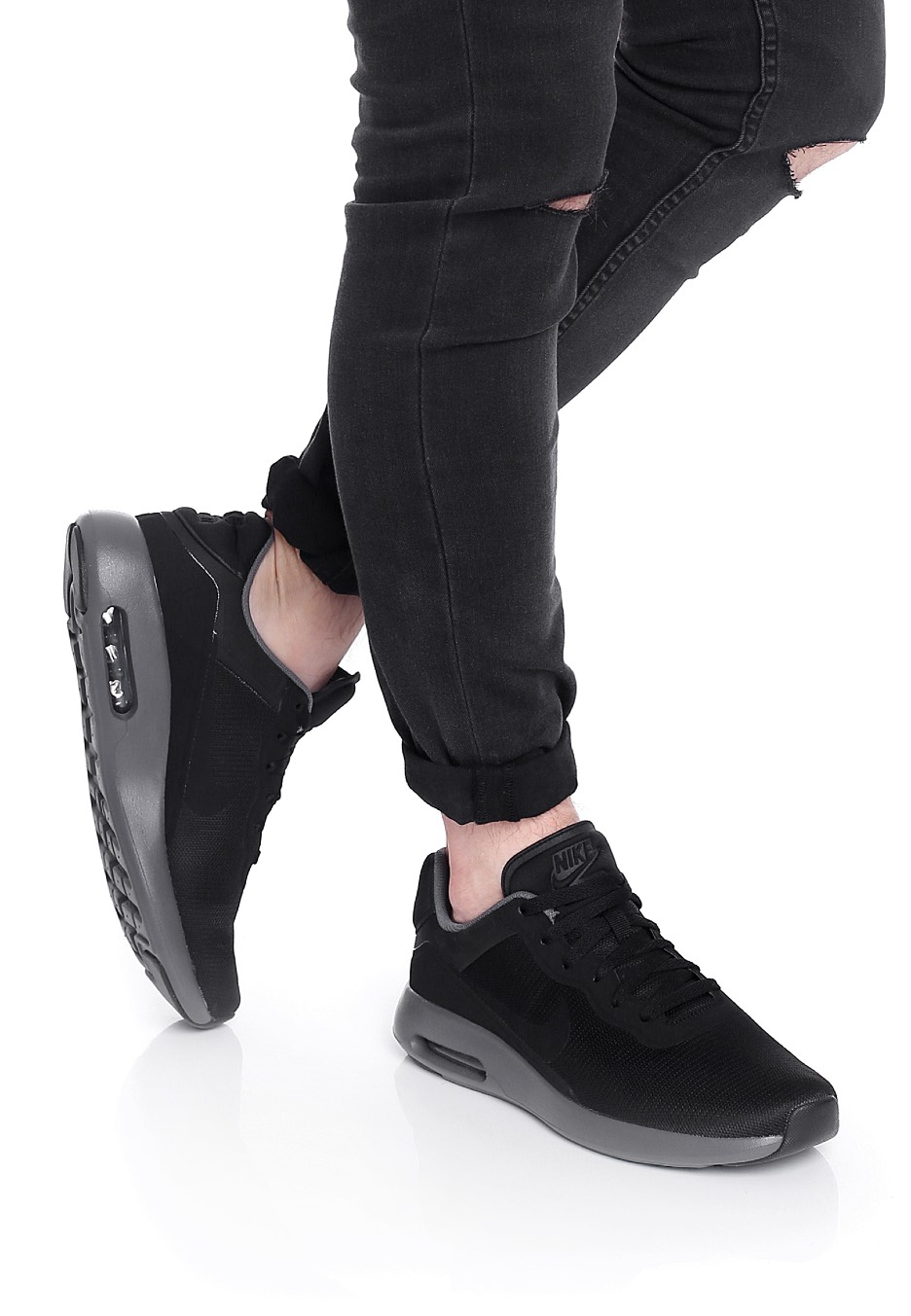 reputable site efd55 79fe9 ... uk nike air max modern essential black black dark grey shoes 53abe 02f14