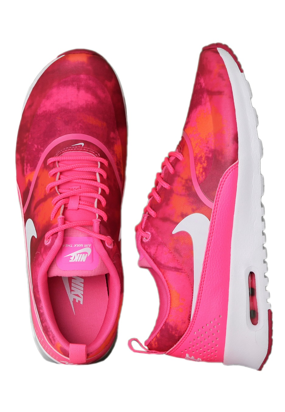 new style 36998 e5213 Nike - Air Max Thea Print Pink PowWhite Fireberry Totally Orange - Girl  Shoes - Impericon.com UK