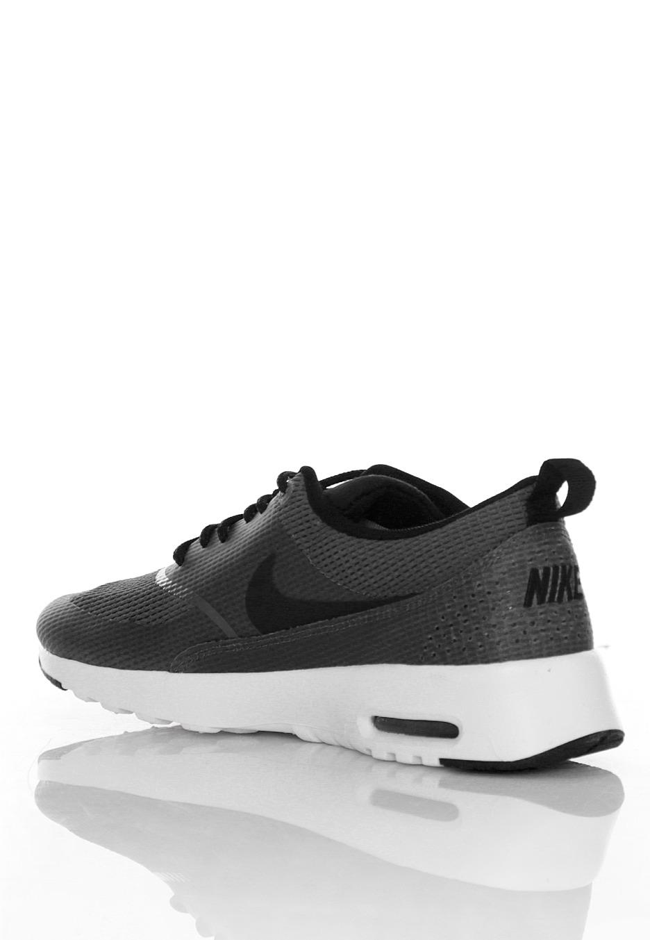 bc3e52df5634 50% off nike air max thea textil dark grey black white girl shoes 3eb23  1a17d