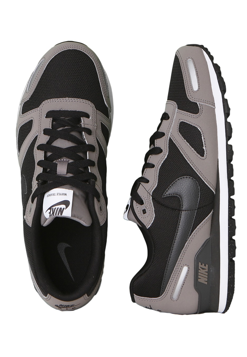 ... nike air waffle trainer sport grey anthracite black metallic silver shoes  impericon worldwide