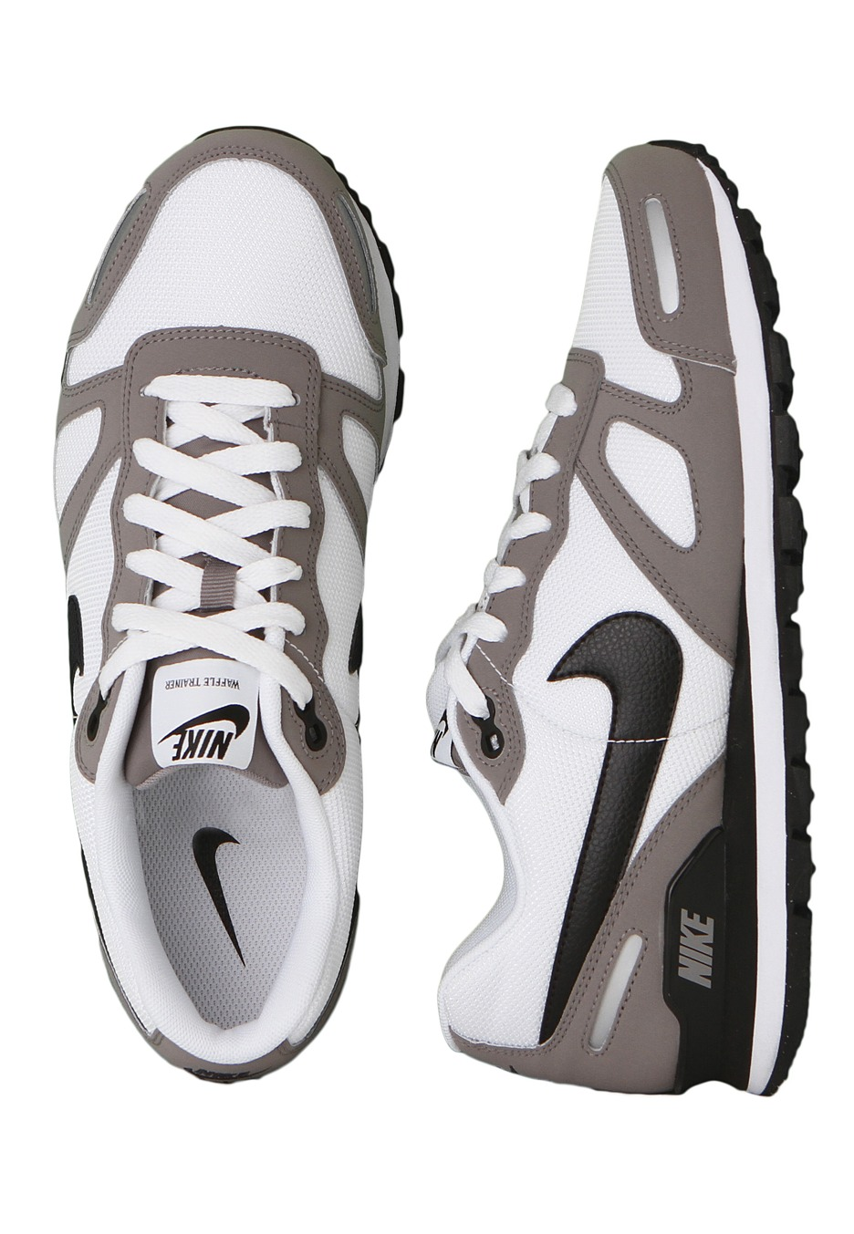 1e42de99ea6 Nike - Air Waffle Trainer Sport Grey Black White Metallic Silver - Shoes -  Impericon.com UK