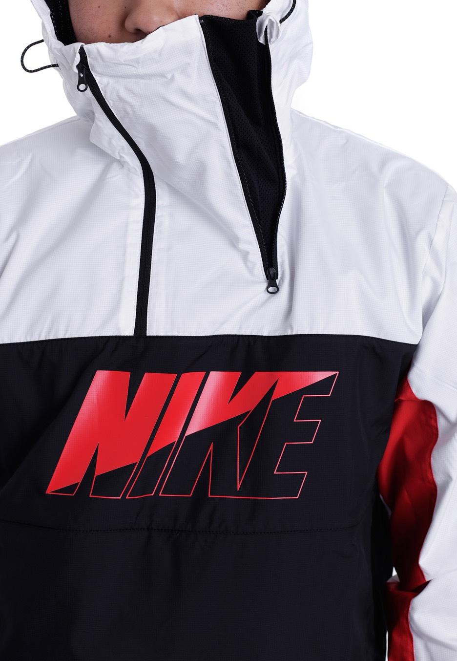 fcb9ec99fe6f ... Nike - AV15 White Black University Red White - Windbreaker ...