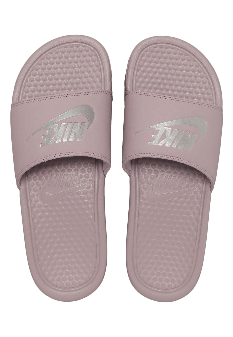 Nike - Benassi Just Do It Particle Rose Metallic Silver - Sandals -  Impericon.com US f63c1b38a566