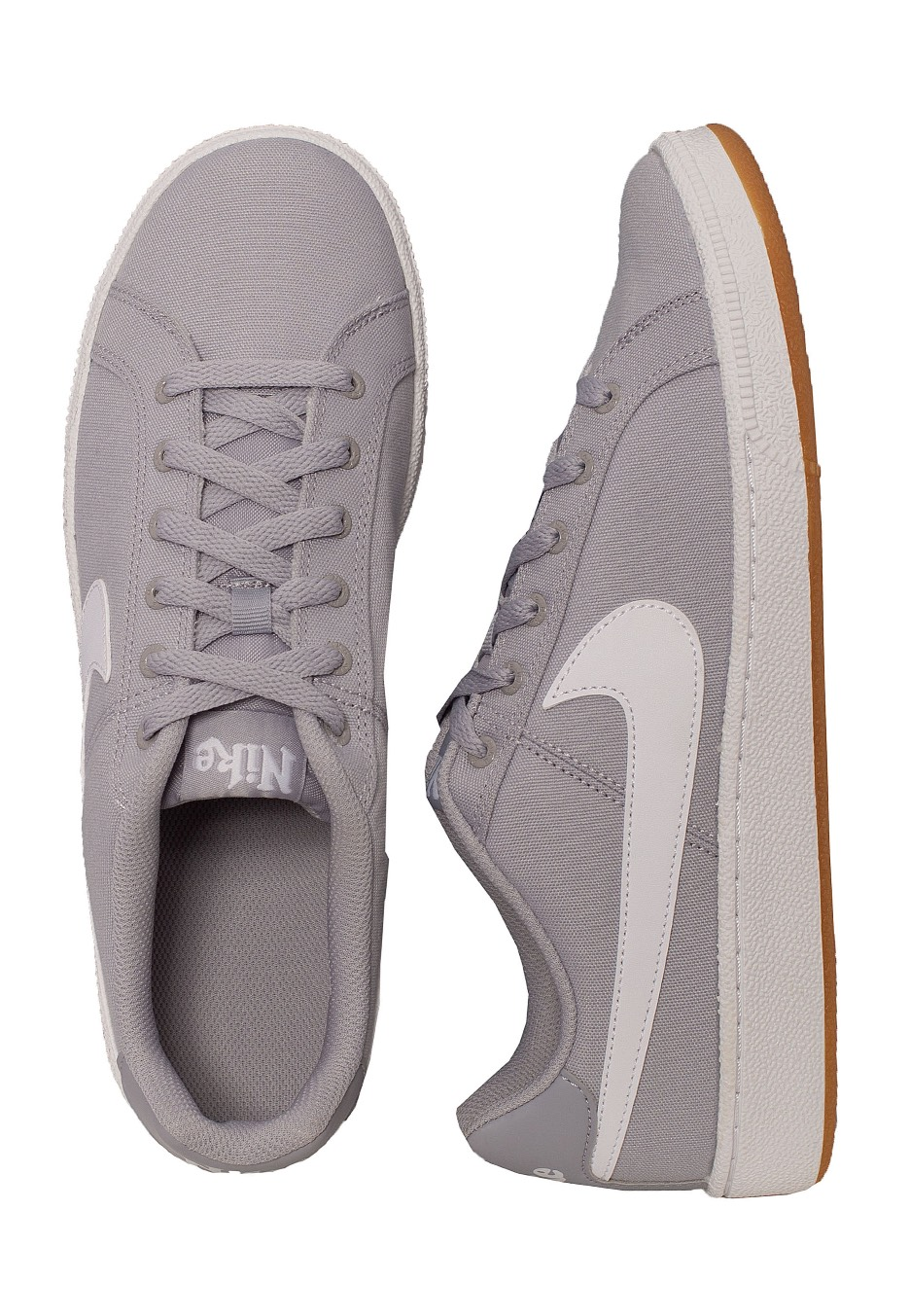 Nike Court Royale Canvas Wolf GreyWhiteGumLight Brown Chaussures