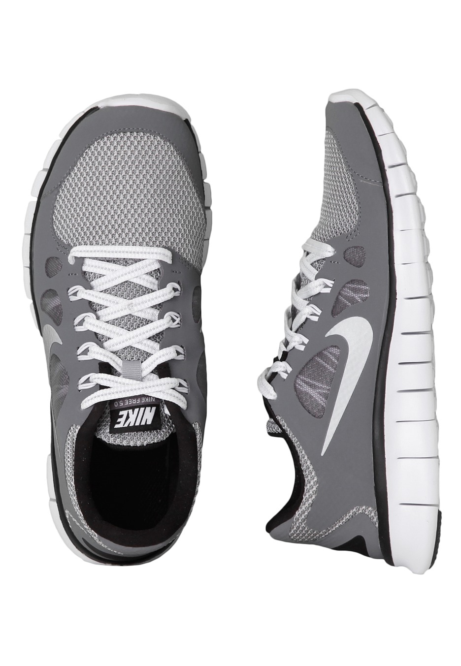 cheap for discount 664b3 59e22 Nike - Free 5.0 LE GS Cool Grey/Metallic Silver/Black - Girl Shoes