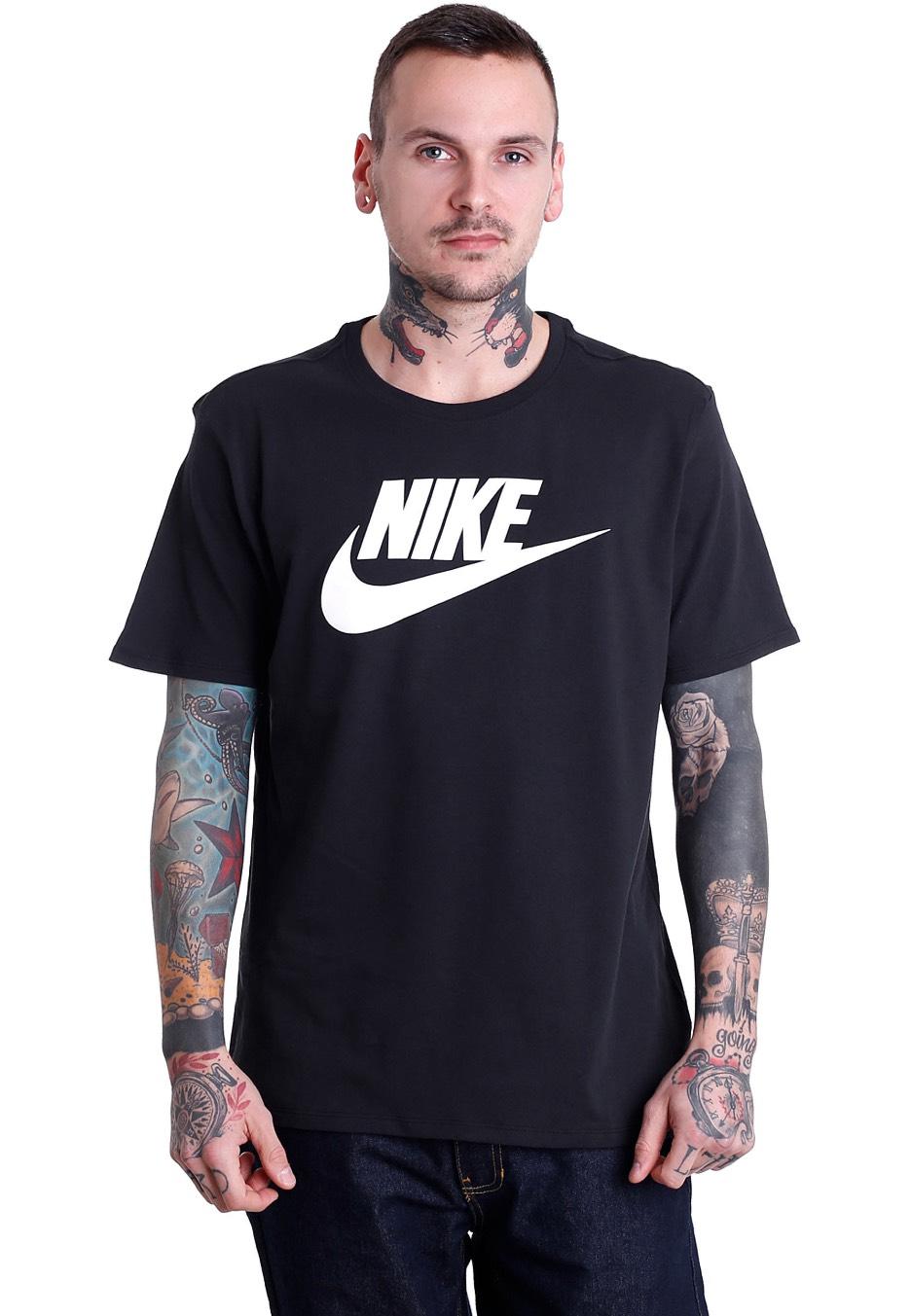 a50887b32 Nike - Futura Icon Black/Black/White - T-Shirt - Streetwear Shop -  Impericon.com UK