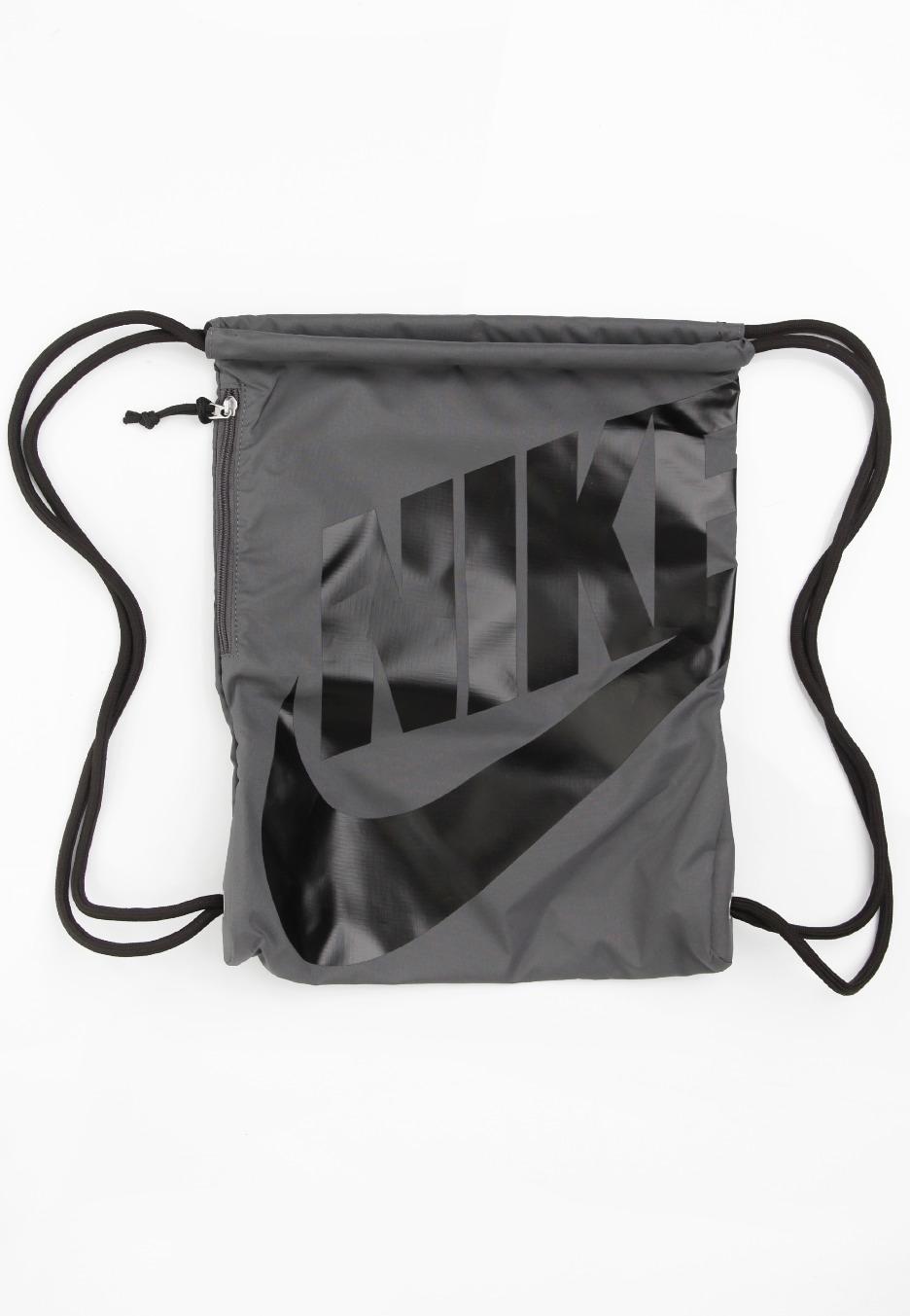 4db0cf0480dd Nike - Heritage Gymsack Dark GreyBlack Black - Backpack - Streetwear ...