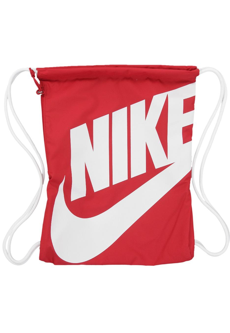 nike heritage gymsack gym red white white backpack. Black Bedroom Furniture Sets. Home Design Ideas